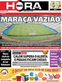 Capa do jornal Meia Hora 15/03/2020