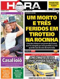 Capa do jornal Meia Hora 15/06/2020