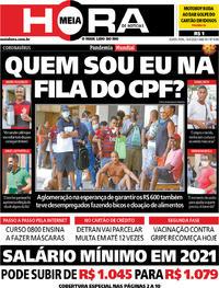 Capa do jornal Meia Hora 16/04/2020