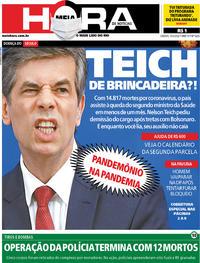 Capa do jornal Meia Hora 16/05/2020