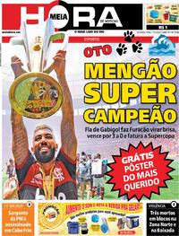 Capa do jornal Meia Hora 17/02/2020