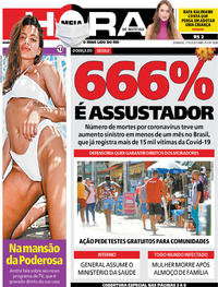 Capa do jornal Meia Hora 17/05/2020