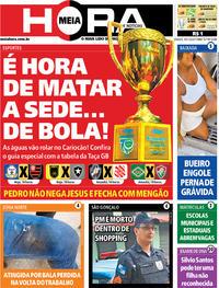 Capa do jornal Meia Hora 18/01/2020
