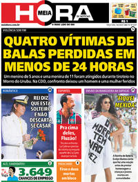 Capa do jornal Meia Hora 18/02/2020