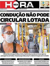 Capa do jornal Meia Hora 18/03/2020