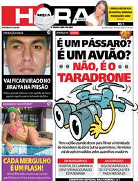 Capa do jornal Meia Hora 18/05/2020