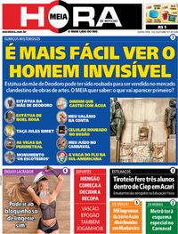 Capa do jornal Meia Hora 19/02/2020