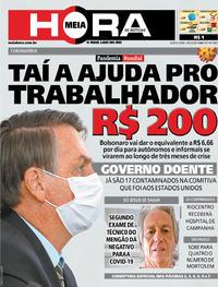 Capa do jornal Meia Hora 19/03/2020