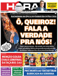 Capa do jornal Meia Hora 19/06/2020