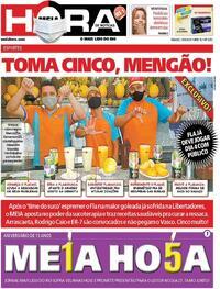 Capa do jornal Meia Hora 19/09/2020