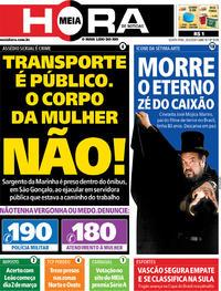 Capa do jornal Meia Hora 20/02/2020