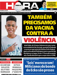 Capa do jornal Meia Hora 20/05/2020