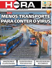 Capa do jornal Meia Hora 21/03/2020