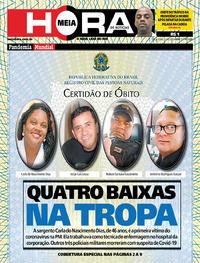 Capa do jornal Meia Hora 21/04/2020