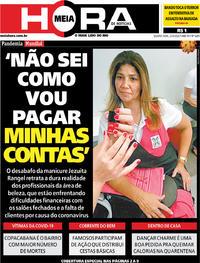 Capa do jornal Meia Hora 22/04/2020