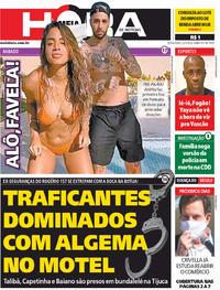 Capa do jornal Meia Hora 22/05/2020