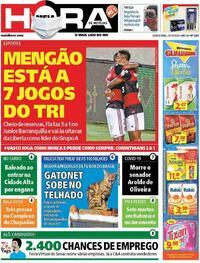 Capa do jornal Meia Hora 22/10/2020
