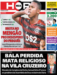 Capa do jornal Meia Hora 23/01/2020