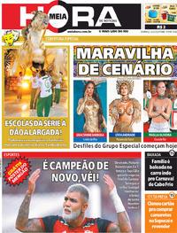 Capa do jornal Meia Hora 23/02/2020