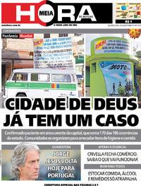 Capa do jornal Meia Hora 23/03/2020