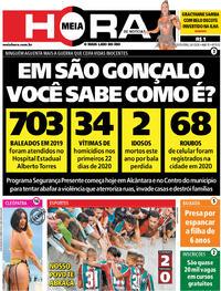 Capa do jornal Meia Hora 24/01/2020