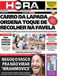 Capa do jornal Meia Hora 24/04/2020