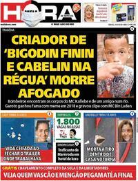 Capa do jornal Meia Hora 24/10/2020