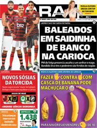 Capa do jornal Meia Hora 25/01/2020