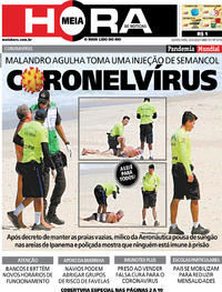 Capa do jornal Meia Hora 25/03/2020