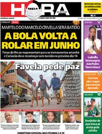 Capa do jornal Meia Hora 25/05/2020