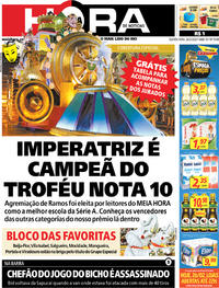 Capa do jornal Meia Hora 26/02/2020