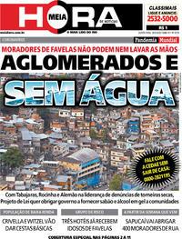 Capa do jornal Meia Hora 26/03/2020