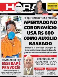 Capa do jornal Meia Hora 26/04/2020