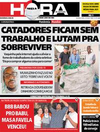 Capa do jornal Meia Hora 27/04/2020