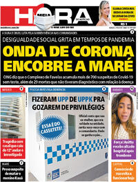 Capa do jornal Meia Hora 27/06/2020