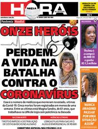 Capa do jornal Meia Hora 28/04/2020