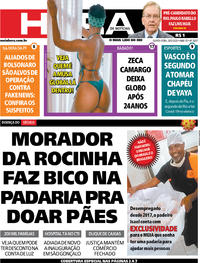 Capa do jornal Meia Hora 28/05/2020