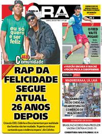 Capa do jornal Meia Hora 28/06/2020