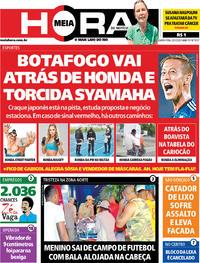 Capa do jornal Meia Hora 29/01/2020