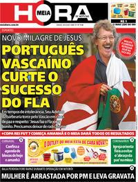 Capa do jornal Meia Hora 29/02/2020