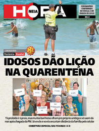 Capa do jornal Meia Hora 29/03/2020