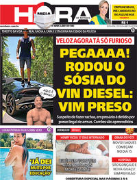 Capa do jornal Meia Hora 29/05/2020