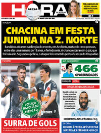 Capa do jornal Meia Hora 29/06/2020