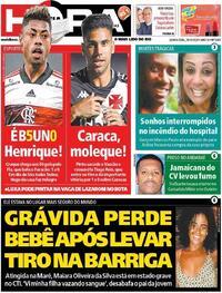 Capa do jornal Meia Hora 29/10/2020