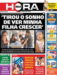 Capa do jornal Meia Hora 30/01/2020