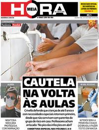 Capa do jornal Meia Hora 30/03/2020