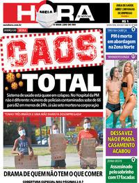 Capa do jornal Meia Hora 30/04/2020