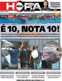 Capa do jornal Meia Hora 31/03/2020