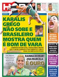 Capa do jornal Meia Hora 04/08/2021