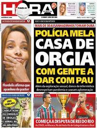 Capa do jornal Meia Hora 15/05/2021